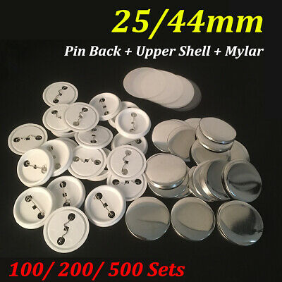 NEW 100/200/500 Sets  25/44mm Button Maker Pin Badge Button Parts Supplies