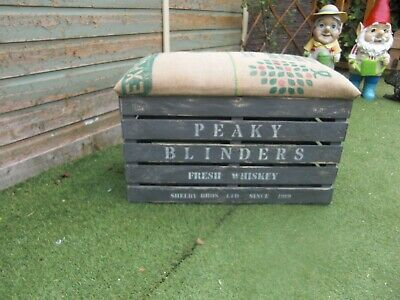 PEAKY BLINDERS THEMED HANDMADE STORAGE CHEST/SEAT £5 to Adult Mental Health