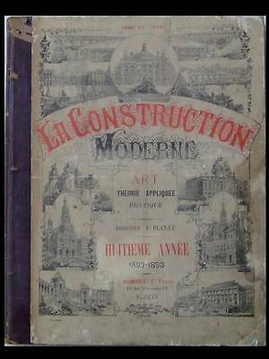 La Construction Moderne 1892-1893  -  Architecture