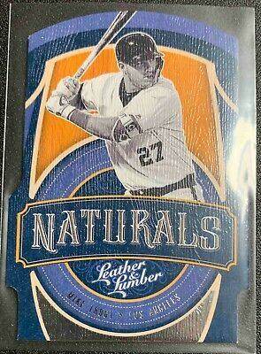 2019 Panini Leather And Lumber Naturals N-7 Mike Trout