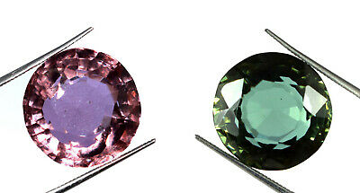 Russian Color Changing Alexandrite 21.85 Ct Round Gemstone AGI Certified K2802