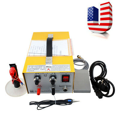 2 IN 1 Pulse Sparkle Spot Welder Gold Silver Platinum Jewelry Welding Machine US
