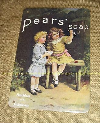 PEARS SOAP vintage style TIN SIGN bathroom new metal antique advertising bath