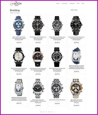 Website|LUXURY WATCH Website|FREE Domain|100% GUARANTEED or Pay NOTHING!