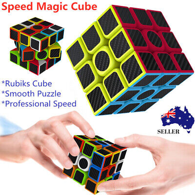 Magic Cube 3x3x3 Super Smooth Fast Speed Magic Rubiks Puzzle Rubics Rubix Toys