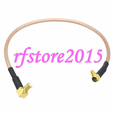 Cable RG316 6inch MCX male plug 90° to MMCX male right angle RF Pigtail Jumper