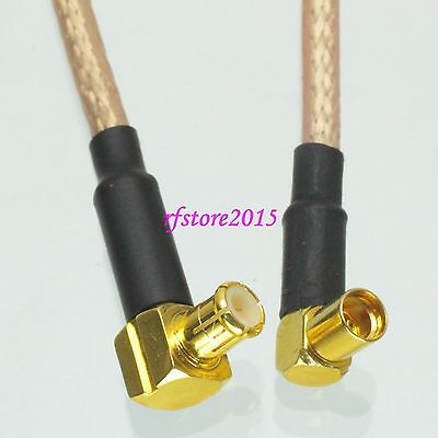 Cable RG316 6inch MCX male plug 90° to MMCX female right angle RF Pigtail Jumper
