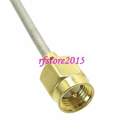 Cable RG405 6inch SMA male plug straight RF Pigtail Jumper