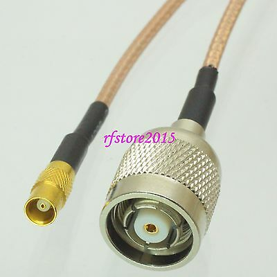 Cable RG316 6inch MCX female jack to RP-TNC male jack Straight RF Pigtail Jumper