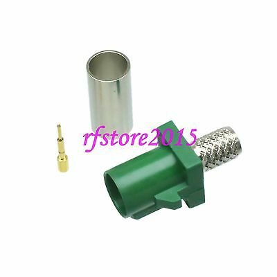 1pce Connector Fakra  E SMB 6002 male crimp RG58 RG142 LMR195 RG400 RF COAXIAL