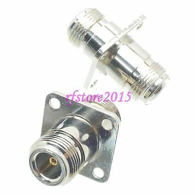 1pce Adapter Connector N female jack to N female jack Flange for Communication