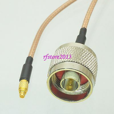 Cable RG316 6inch MMCX male plug to N male plug Straight RF Pigtail Jumper