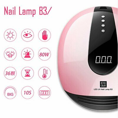 SUNUV 80W LED Nail Lamp Gel Nail Polish Dryer UV Light DIY Solon 36 LEDs 4 Timer