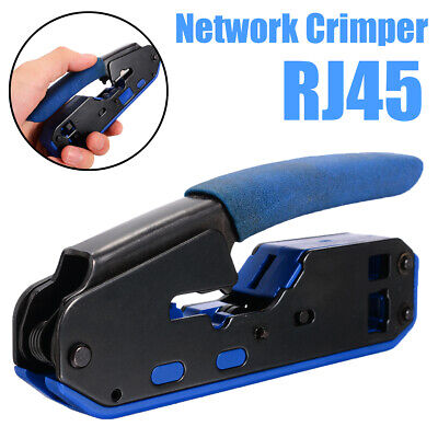 For Cat5e Cat6 4P 6P RJ45 Network Crimper Plier Cutter  Stripping Tool Lan Cable