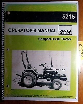 ALLIS CHALMERS 200 sel Tractor Operators Owners Manual ... on