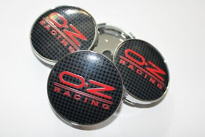 oz racing centre caps black silver 60mm fitment 57mm  red black carbon style