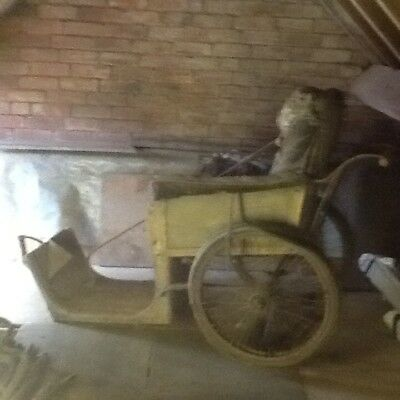 Antique Wheel Chair With Wedgewood  History