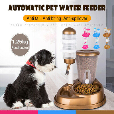 Fountain Bottle Cat Dog Pet Bowl Automatic Water Drinker Food Feeder Dispenser