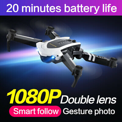 Foldable WIFI FPV RC Quadcopter Drone with 1080P 5.0MP Camera Selfie Drone white