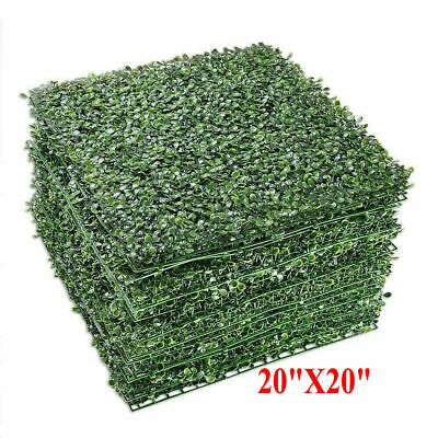 "12 Wall Artificial Grass Green Boxwood Wall Mat Hedge Fence 20""X20"" 3cm"