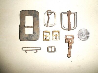Metal Detector Finds Old Belt Buckles / Buckles / Clasp Lot , age is unknown
