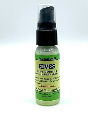 HIVES All Natural Relief for Red, Swollen, and Itching Rashes