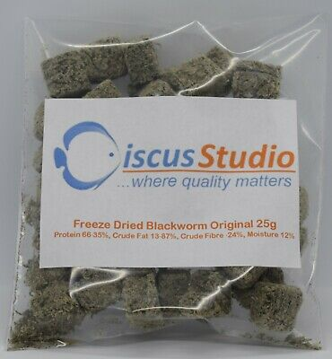 Australian Freeze Dried Blackworm 25g Discus Food