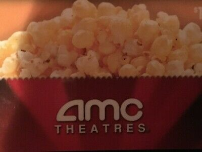 4 Large popcorn AMC Theaters. ELECTONIC EDELIVERY