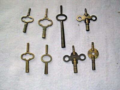 Clock  Parts ,8 Double  Ended  Clock  Keys
