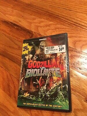 Godzilla Vs Biollante Dvd Rare Oop Brand New Sealed