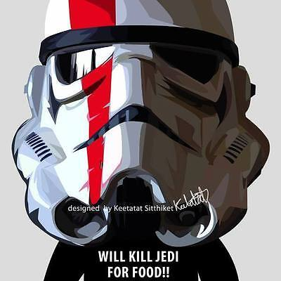 Funny Stormtrooper canvas Quotes wall decals painting framed poster POP ART ❤️