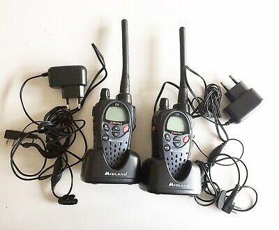 2* Talkie walkie Midland G9 + chargeurs + oreillettes // USED ETAT OCCASION