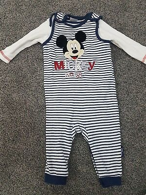 Boys Micky Mouse 2 Piece Outfit/ Disney/ 3-6 Months