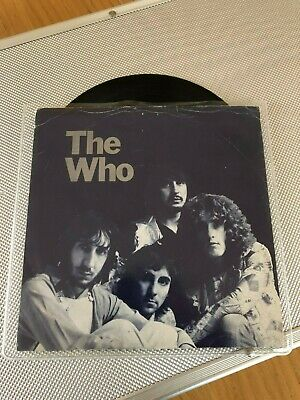 """THE WHO - Won't Get Fooled Again UK Track 7"""" RARE MISPRESS with Picture Sleeve"""