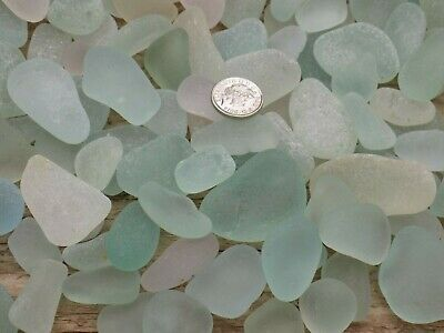 English Sea Glass 1Kg Smooth Frosted Seaglass Aqua &Seafoam Jq Pentdents