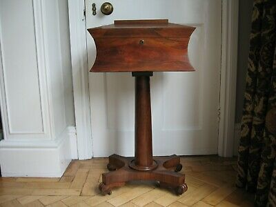 Regency Period Rosewood Teapoy/teacaddy For Restoration Lovely item