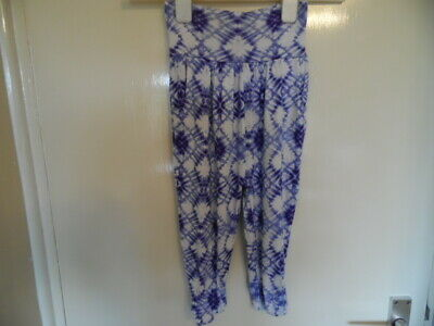 Girls tie dye style harem pants with elasticated waist and ankles size 3yrs 95cm