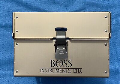 """BOSS INSTRUMENTS RONGEURS STERILIZATION CASE 12-1/2"""" x 9"""" x 6""""    Free Shipping"""