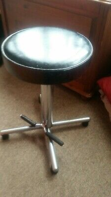 Vintage chrome Stool By Harrods