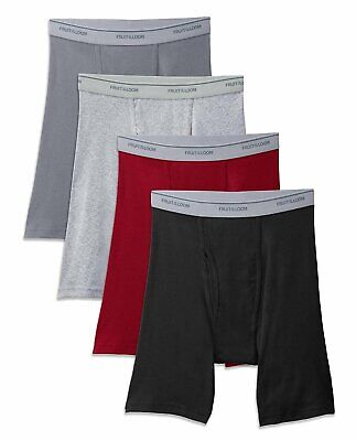 Fruit of the Loom Men's Long Leg Boxer Briefs (3X-Large) 4-Pack
