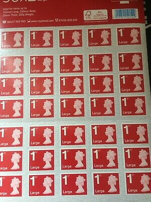 Royal Mail First Class Large Letter size 1st Class 50 Stamps