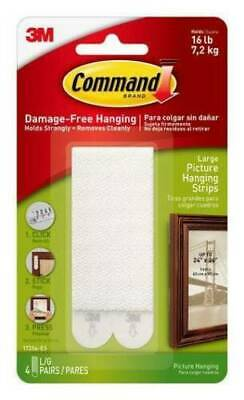 3M Command Strips Adhesive Mounting Small Medium Large Hanging Fixing Mount
