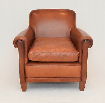 Laura Ashley Burlington vintage leather armchair