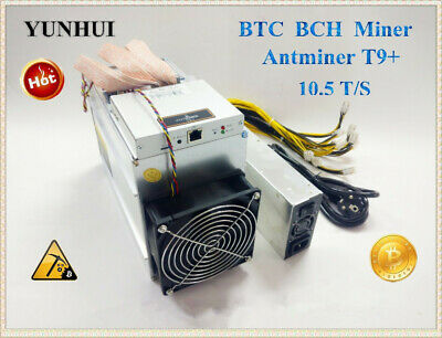 Used Antminer T9+ 10.5T Bitcoin Miner Asic Miner Newest 16Nm Btc Bch Miner Bitco