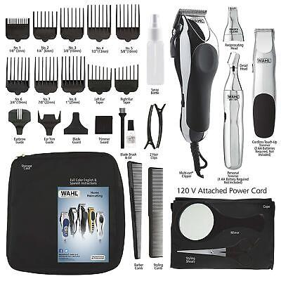 Wahl Pro Hair Cutting Kit Professional Barber Machine Clipper Haircut Trimmer US