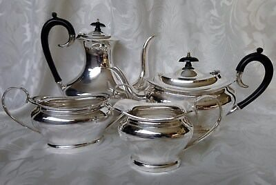 SILVER PLATED EPNS Vintage Tea & Coffee Service 4 Piece Set Pots + Milk & Sugar