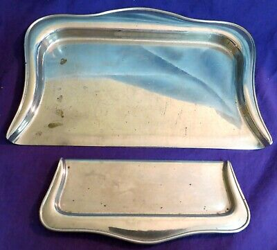 Vtg Stainless Steel Crumb Catcher Dust Pan Table Butler Sweeper Tray Set Silent