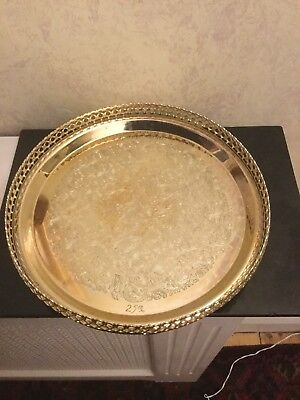 Vintage Silver Plated Drinks Tray Engraved Mum & Dad 25th