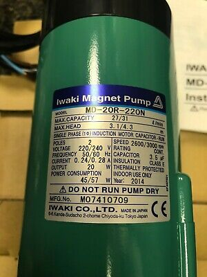 Iwaki MD-20R-220N Magnetic Drive Pump