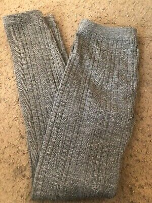 Girls grey thick footless tights size M/L